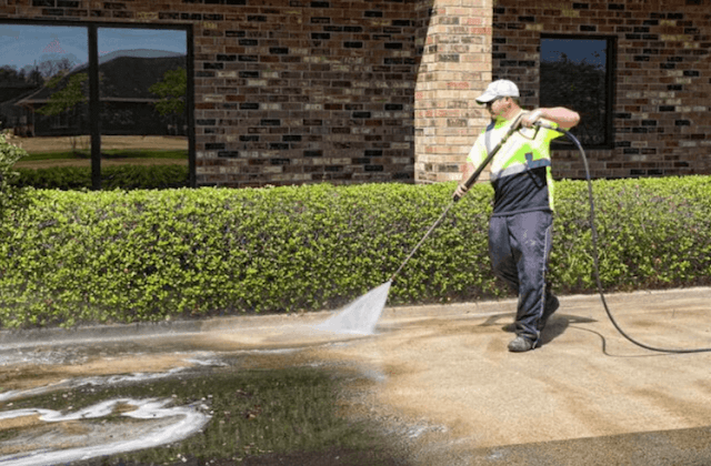 commercial concrete cleaning in silver spring